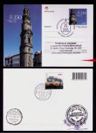 Portugal 250 Years Torres Dos Clérigos Watchers Horlogerie Monuments Architecture Entier Postal Stationery Sp2475 - Monuments