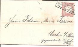 BRS050/ Brief, Grosses Brustschild, Mi.Nr. 19, Breslau Freiburger Bahnhof 1872 Papierfabrik Wiskott Nach Coeln