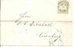 Brs048/ Brief, Mi.Nr. 23, Grosses Brustschild In Super Prägung U. Zentrierung - Deutschland