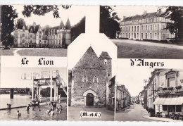 Ah - Cpsm Petit Format LE LION D'ANGERS (multivues) - Altri Comuni