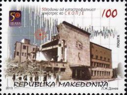 MK 2013-664 50A°Earthquake, MAKEDOIA, 1 X 1v, MNH - Macédoine