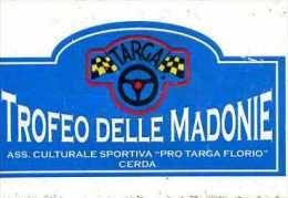 X Adesivo Stiker Etiqueta TROFEO DELLE MADONIE CERDA CM. 7 X 11 - Adesivi