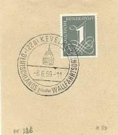 Germany Nice Cut Day Cancel Kevelaer Deutschland Grosster Wallfahrsort 8-6-1959 - Christendom