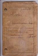 Livret Militaire - Classe 1883 - 12 E Régiment Territorial D'infanterie D'Amiens - Caserne Friand. - Documents