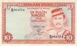 BILLET # BRUNEI  #  1986 # 10 RINGITT # PICK 9 # CIRCULE - Brunei