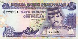 BILLET # BRUNEI  #  1989 # 1  RINGITT # PICK 13 # - Brunei