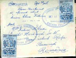 Cover 1951, Circulated Venezuela (Maracaibo)-Romania, Air Mail - Venezuela
