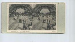 Paris;Photo Stéreoscopique De La Tour Eiffel à L'exposition Universelle De 1900 - Stereoscopic