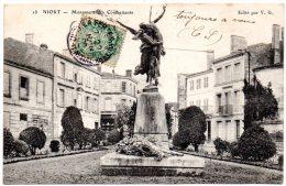 CP, 79, NIORT, Monuments Des Combattants, Voyagé En 1906 - Niort