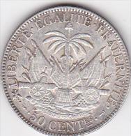 HAITI .50 CENTIMES 1895 (PARIS) .ARGENT - Haití