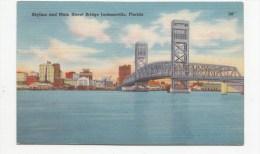 TZU339 Skyline And Main Street Bridge Jacksonbille Florida   2  Scans - Jacksonville