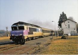 CF 185  Train En Gare D'aix La Marsalouse - Autres Communes