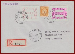 Feldpost Norwegen Als Einschreiben  Gelaufen 1982 Mit Feldpoststempel - Norwegen