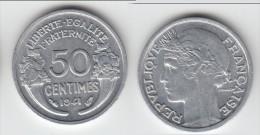 QUALITE **** 50 CENTIMES MORLON 1941 LOURDE (0,80 Gramme) - ALUMINIUM **** EN ACHAT IMMEDIAT !!! - France
