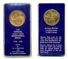 Medaille Du Bicentennairede Saint-Louis - Etats-Unis