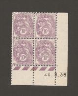 10c Type Blanc - Coind Date 29-9-1930 - Neufs Sans Charniere - Infime Point De Rouille Sur Bord De Feuille Inferieur - 1900-29 Blanc