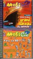 Lot De 4 MOBICLIC   N° 58 , 59 , 60 , 61 Décembre 2003  à Mars 2004  CD Rom  Mobiclic   édition Milan   Neuf - CD