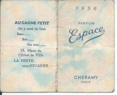 PARFUM ESPACE - CHERAMY Paris + Calendrier 1956 à L´intérieur -  (dimension Ouverte 10.5 X 8.5 Cm) - Calendriers