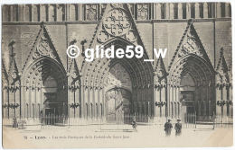 LYON - Les Trois Portiques De La Cathédrale Saint-Jean (animée) - N° 78 - Lyon