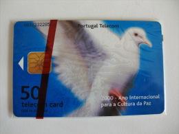 Phonecard/ Telécarte Telecom Card Ano Internacional  Da Paz - Dia Da Mãe  50 Impulsos Portugal Tirage 31000 Ex. - Portugal