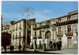 VIZZINI, PIAZZA UMBERTO I E MONUMENTO AI CADUTI, FORMATO GRANDE    **** - Catania