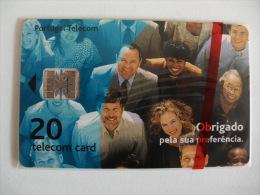 Phonecard/ Telécarte Telecom Card Obrigado Pela Sua Preferência - 20 Impulsos Portugal Tirage 11000 Ex. - Portugal