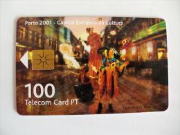 Phonecard/ Telécarte Telecom Card Porto 2001 Capital Europeia Da Cultura - 100 Impulsos Portugal Tirage 70000 Ex. - Portugal