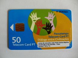 Phonecard/ Telécarte Telecom Card Passatempo Diálogo Entre Civilizações - 50 Impulsos Portugal Tirage 50000 Ex. - Portugal
