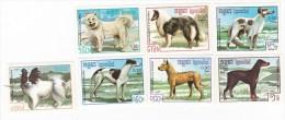 Cambodia 1987 Dogs Set MNH - Cambodge