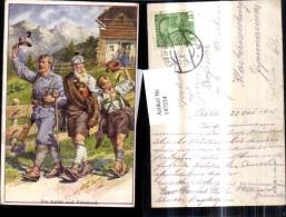 147224,Künstler Ak WW1 Südtiroler Soldaten Uniform Waffen - Guerre 1914-18