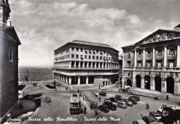 ANCONA-PIAZZA DELLA  REPUBBLICA-TEATRO DELLE MUSE-AUTO D'EPOCA-AUTOBUS- - Ancona