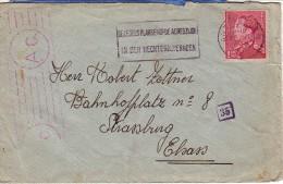 BELGIQUE : 1944 - Lettre Pour Strassburg (Strasbourg) - Elsass - Alsace - Cartas