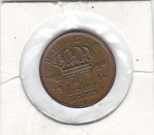 20 CENTIMES Bronze Baudouin I 1954 FL  FDC - 01. 20 Centimes