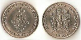 Azores-  25 Escudos 1980 - Portogallo