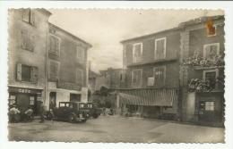Cpsm ( Format Cpa )   REMUZAT , Place De La Poste , Café , Animé - Autres Communes