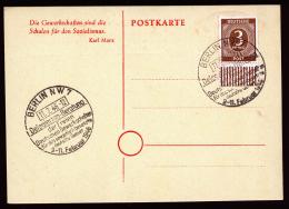 A2318) Kontrollrat Sonderkarte FDGB Delegierten-Konferenz 11.2.1946 Frühes Datum - Gemeinschaftsausgaben