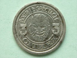 CITHEA Pour Le Spectacle - 3 COUPONS 1933 - B ( 30 Mm./ 9.1 Gr. - For Grade, Please See Photo ) !! - France
