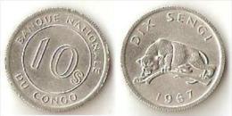 Congo 10 Sengi 1967 - Congo (Rép. Démocratique, 1964-70)