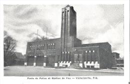 Poste De Police Et Station De Feu - Victoriaville, Quebec  Repro Possiblement - Other