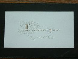 Le Commissaire MARITIME Au Port De GAND ( Porcelein / Porcelaine - Zie Details Foto ) ! - Visitekaartjes