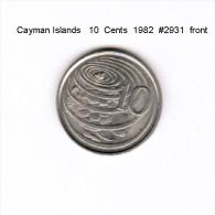 CAYMAN ISLANDS    10  CENTS  1982  (KM # 3) - Cayman Islands