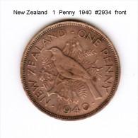 NEW ZEALAND    1  PENNY  1940  (KM # 13) - New Zealand