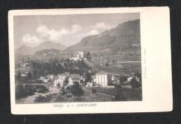 CPA TAVEL Sur CLARENS Et Chateau Du Chatelard DOS NON DIVISE - VS Valais