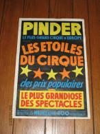 Affiche Originale - Cirque PINDER  - Les Etoiles Du Cirque - Circus - Manifesti