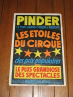 Affiche Originale - Cirque PINDER  - Les Etoiles Du Cirque - Circus - Posters