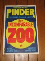 Affiche Originale - Cirque PINDER - Zoo - Circus - Affiches