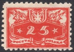 Poland, 25 F. 1920, Sc # O5, Mi # 5, MH - Officials