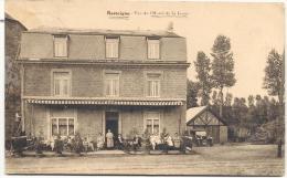 RESTEIGNE-VUE DE L'HOTEL DE LA LESSE-CARTE ENVOYEE 1925-EDIT-DAURY-THITEUX-HOTEL DE LA LESSE-VOIR 2 SCANS - Tellin
