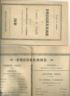30 GARD BERNIS PROGRAMME CONCERT SOCIETE ROSSIGNOL - Programs
