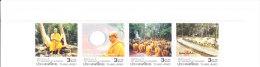 Thailand Setenant Set Of 4v 2009 - Buddhism - 100th Anniversary Of Buddhadasa - Thailand